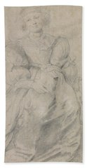 Portrait Of Helene Fourment Hand Towel