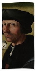 Portrait Of Jacob Cornelisz Van Oostsanen Hand Towel