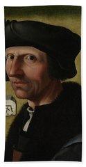 Portrait Of Jacob Cornelisz Van Oostsanen Bath Towel