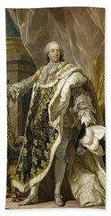Portrait Of Louis Xv Of France Bath Towel
