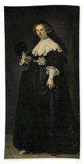 Portrait Of Oopjen Coppit, 1634 Bath Towel