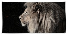 Portrait Of The King Of The Jungle II Hand Towel by Jim Fitzpatrick