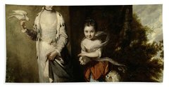 Portrait Of The Ladies Amabel And Mary Jemima Yorke Bath Towel