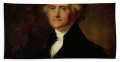 Portrait Of Thomas Jefferson Hand Towel by Asher Brown Durand
