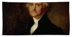 Portrait Of Thomas Jefferson Hand Towel