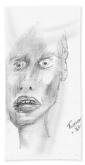 Portrait With Mechanical Pencil Hand Towel