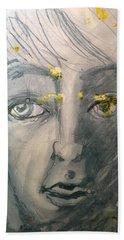 Portrait With Yellow Bath Towel