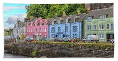 Portree Town On Skye, Scotland Bath Towel