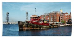 Portsmouth Tug Hand Towel