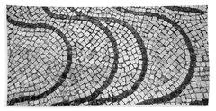 Portuguese Pavement Patterns In Cascais Bath Towel
