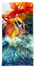 Poseidon Bath Towel by Henryk Gorecki