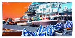 Positano Beach Pop Art Bath Towel