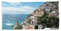 Positano Italy Hand Towel by Loriannah Hespe