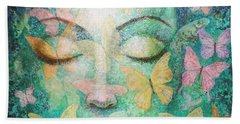 Hand Towel featuring the painting Possibilities Meditation by Sue Halstenberg