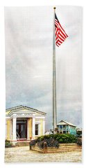 Post Office In Seaside Florida Hand Towel