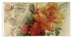 Hand Towel featuring the digital art Postal by Kim Kent
