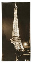 Postcard From Paris- Art By Linda Woods Bath Towel