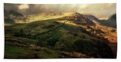 Postcard From Scotland Bath Towel by Jaroslaw Blaminsky