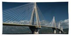 Postcard With Rio-andirio Bridge  Bath Towel