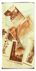Postcards And Letters From The City Of Love Bath Towel