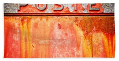 Poste Italian Weathered Mailbox Bath Towel by Silvia Ganora
