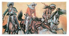Poster For Buffalo Bill's Wild West Show Bath Towel