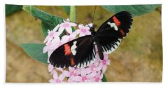 Bath Towel featuring the photograph Postman Butterfly, Heliconius Melpomene by Paul Gulliver