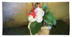 Potted Flower Hand Towel