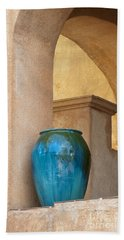 Pottery And Archways Hand Towel by Sandra Bronstein
