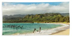 Bath Towel featuring the photograph Pounders Beach 5 by Leigh Anne Meeks