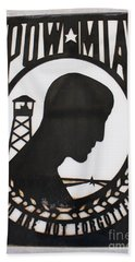 Hand Towel featuring the photograph Pow Mia Not Forgotten by Natalie Ortiz
