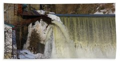 Power Station Falls On Black River One Hand Towel