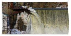 Power Station Falls On Black River One Bath Towel
