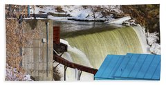 Power Station Falls On Black River Two Hand Towel