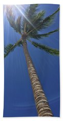 Hand Towel featuring the photograph Powerful Palm by Karen Nicholson
