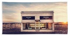 Hand Towel featuring the photograph Prada Store by Prada