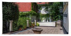 Hand Towel featuring the photograph Prague Courtyards by Jenny Rainbow
