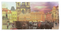 Prague Old Town Square Bath Towel