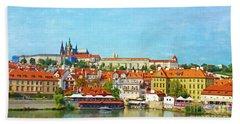 Prague Panorama Bath Towel