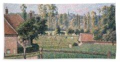 Prairie At Eragny, 1889 Bath Towel