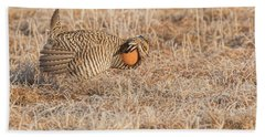 Bath Towel featuring the photograph Prairie Chicken 10-2015 by Thomas Young