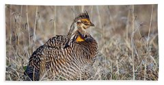Hand Towel featuring the photograph Prairie Chicken - Portrait by Nikolyn McDonald