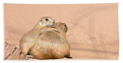 Prairie Dog Friends Hand Towel by Laurel Powell