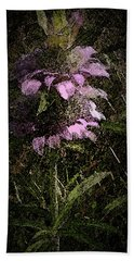 Prairie Weed Flower Bath Towel by Donna G Smith