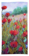 Praising Poppies Bath Towel