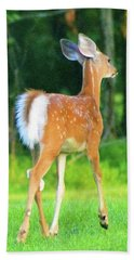 Prancer Hand Towel by Kathy Kelly