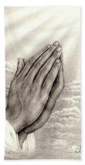 Praying Hands Hand Towel