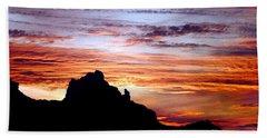 Praying Monk, Camelback Mountain, Phoenix Arizona Hand Towel