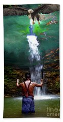 Bath Towel featuring the photograph Praying To The Spirits by Al Bourassa