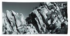Precious Moment - Juxtaposed Rocks Joshua Tree National Park Bath Towel